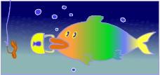 水中动物0483