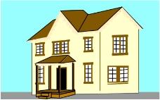 卡通建筑0496