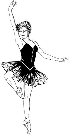 舞蹈手绘主题画